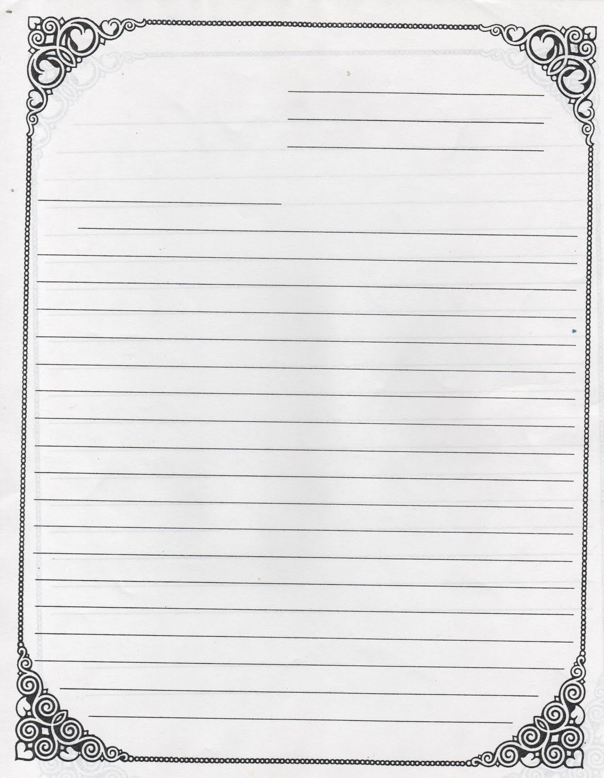 Letter Template With Lines Letter Writing Paper Formal Letter - Free Printable Letter Writing Templates