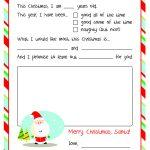 Letter To Santa – Free Printable | Christmas Ideas | Pinterest   Free Printable Letter From Santa Template