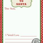 Letter To Santa Free Printable Download   Free Printable Dear Santa Stationary