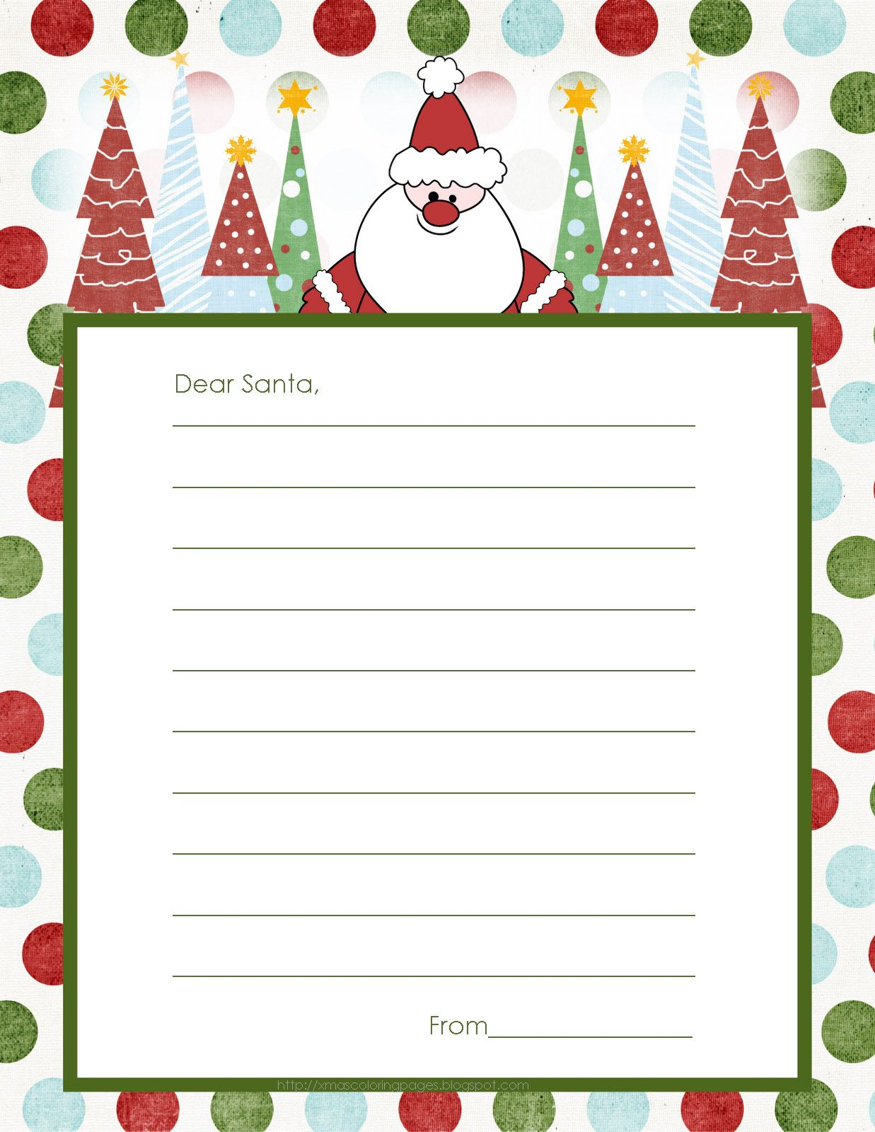 Letter To Santa Template Free |  To Send A Letter To Santa Now - North Pole Stationary Printable Free