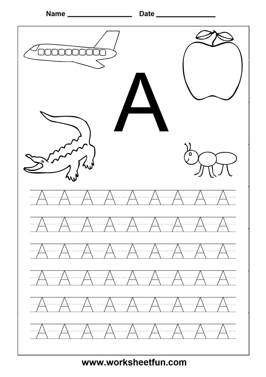 Letter Worksheets For Kindergarten Printable | Letters | Pinterest - Free Printable Letter Worksheets