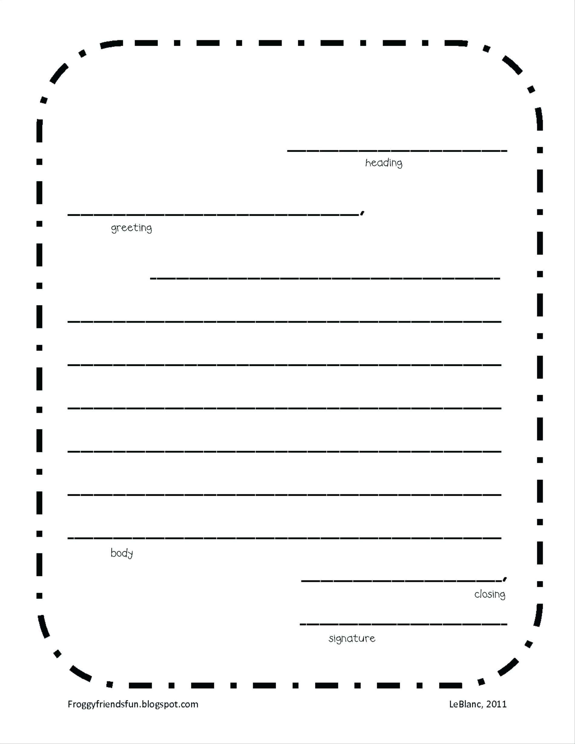 Letter Writing Template Printable   Free Letter Templates For Word - Free Printable Letter Writing Templates