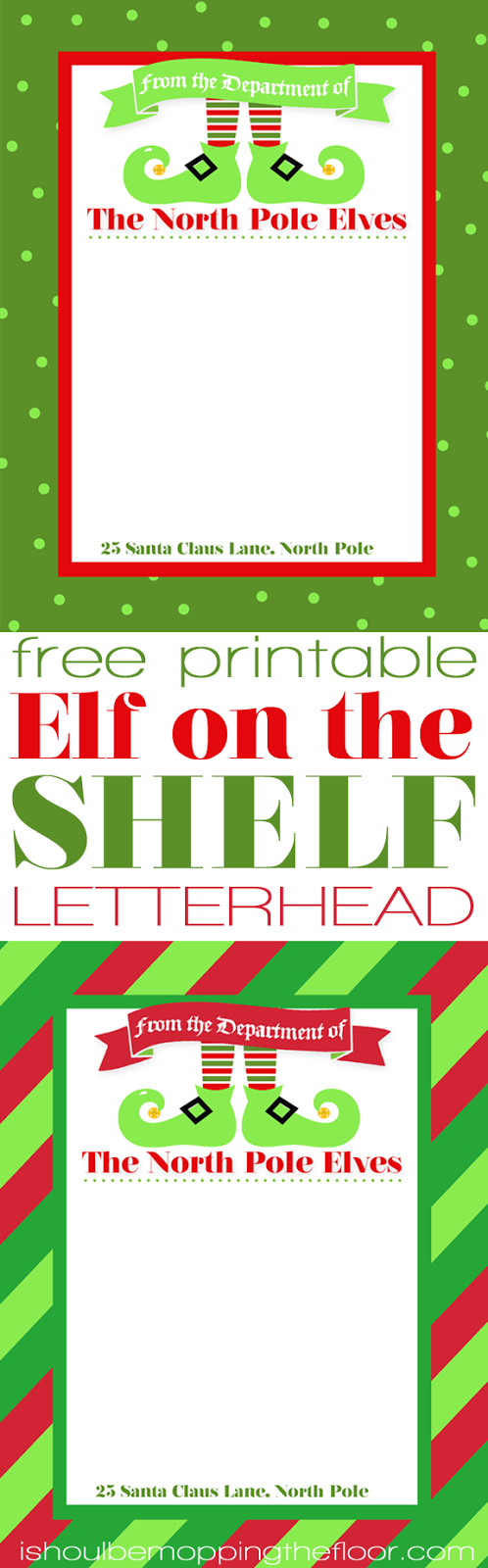 Free Printable Elf Stationery