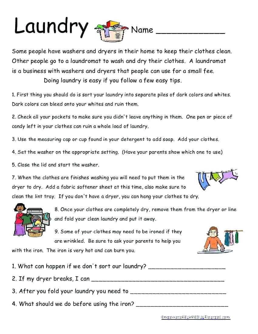 Life Skills Worksheets – Karyaqq.club - Free Printable Life Skills Worksheets
