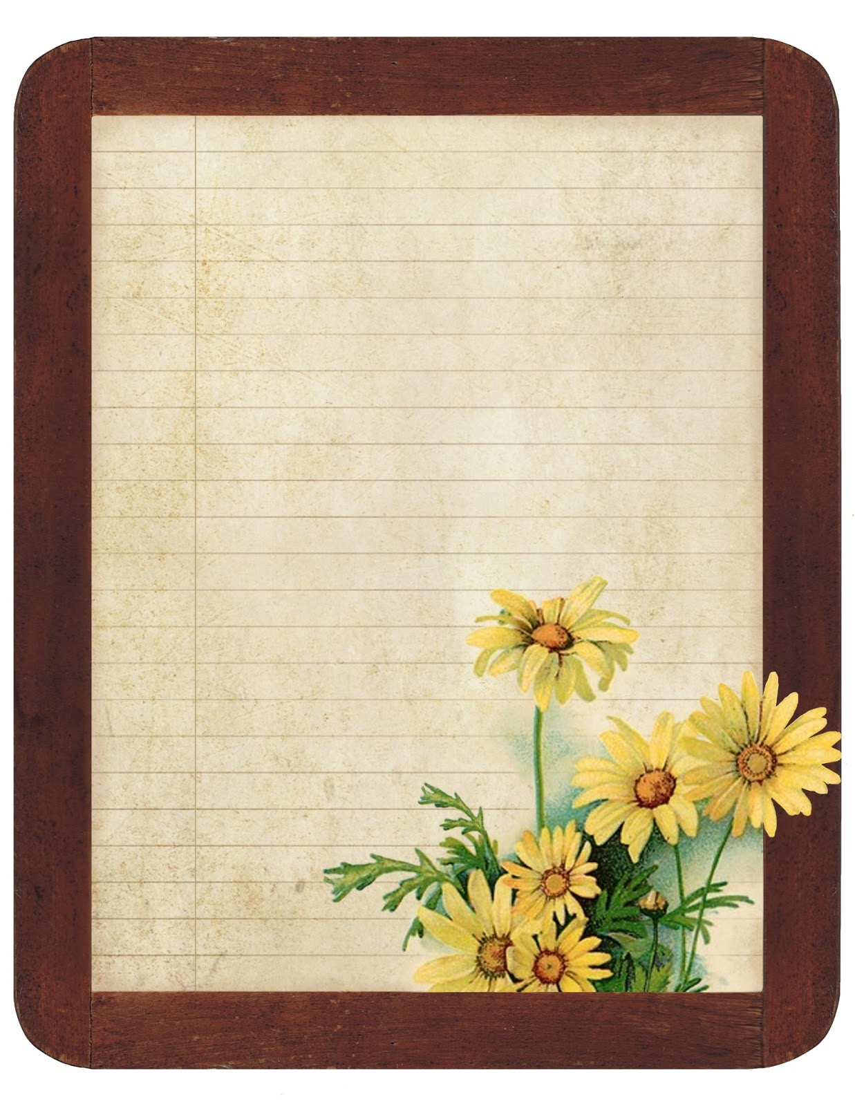 Lilac & Lavender: July 2013 - Free Printable Sunflower Stationery