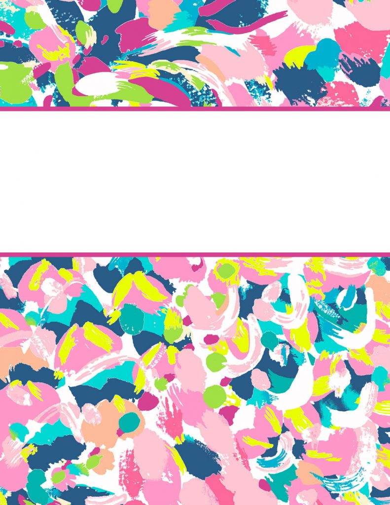 Lilly Pulitzer Binder Covers 2017 — Free, Cute, Printable Binder Covers! - Free Printable Binder Covers