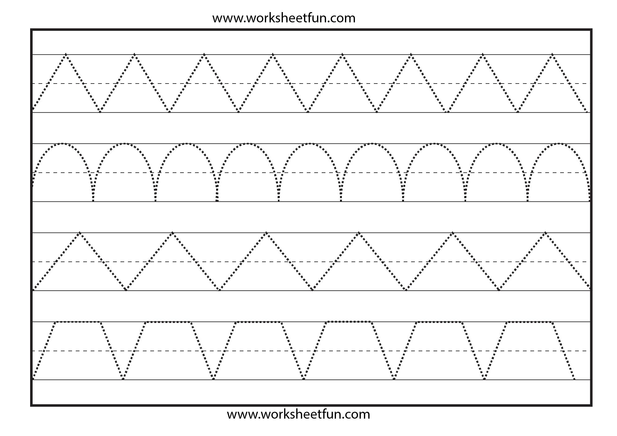 Line Tracing – 1 Worksheet / Free Printable Worksheets – Worksheetfun - Free Printable Pre K Worksheets