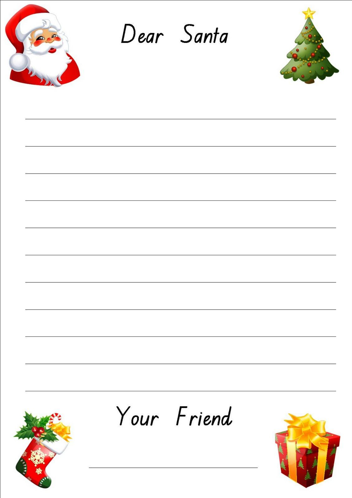 Lined Christmas Paper For Letters   Do Your Kids Write Letters To - Free Printable Christmas Writing Paper With Lines
