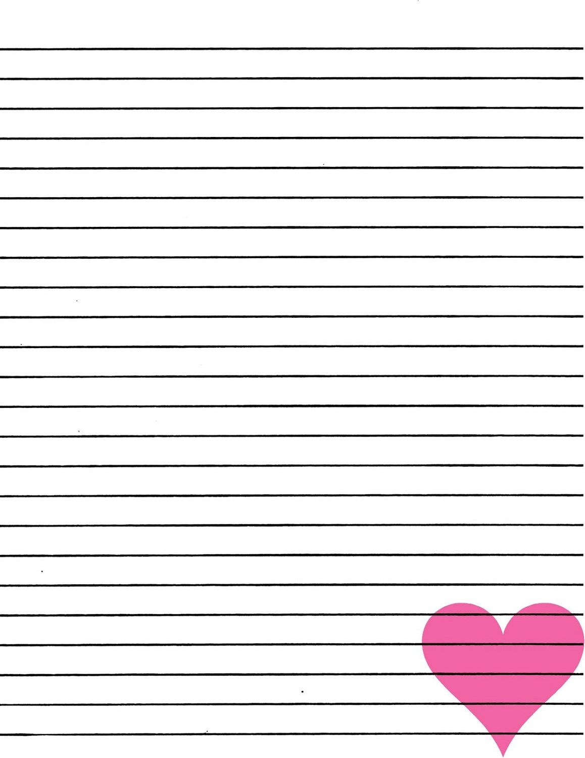Lined Paper For Writing | Notebook Paper Templates | Printable Paper - Free Printable Notebook Paper