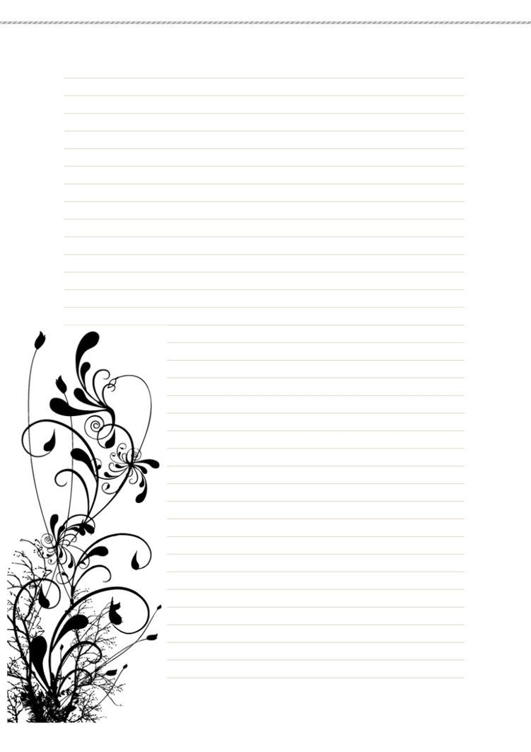 Lined Winter Free Printable Stationary (Stationery) Stationery Image - Free Printable Lined Stationery