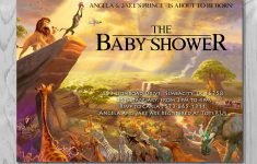 Lion King Baby Shower Invitation, Jungle Invitation, Disney Invite – Free Printable Lion King Baby Shower Invitations