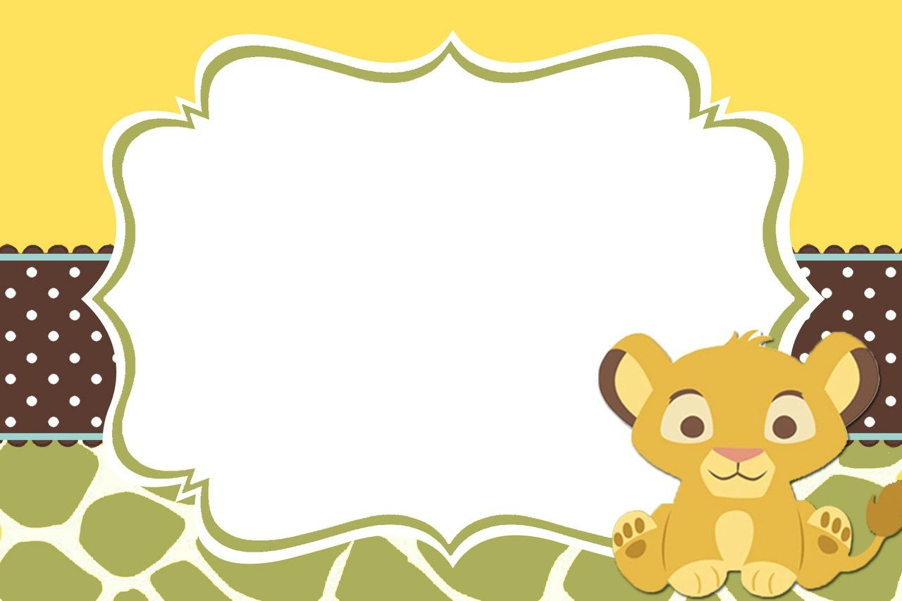 Lion King Baby Shower Table Decorating Kit Clipart   Summer - Free Printable Lion King Baby Shower Invitations