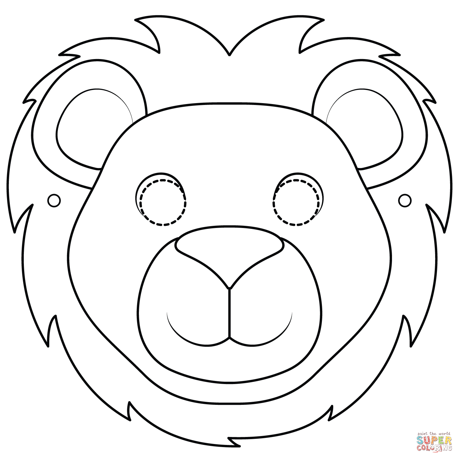 Lion Mask Coloring Page   Free Printable Coloring Pages - Free Printable Lion Mask