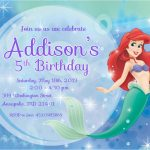 Little Mermaid Birthday Invitations Free Printables | Birthdaybuzz   Free Little Mermaid Printable Invitations