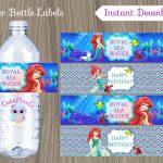 Little Mermaid Water Bottle Label Ariel Bottle Label Disney | Etsy   Free Printable Little Mermaid Water Bottle Labels