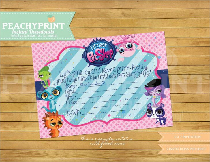 Littlest Pet Shop Invitations Printable Free