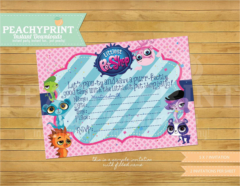 Littlest Pet Shop Birthday Invitations   Birthdaybuzz - Littlest Pet Shop Invitations Printable Free