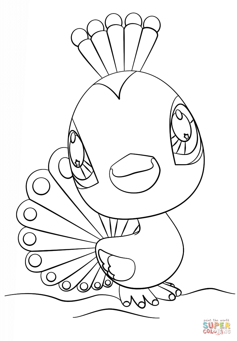Littlest Pet Shop Peacock Coloring Page | Free Printable Coloring Pages - Littlest Pet Shop Free Printable Coloring Pages