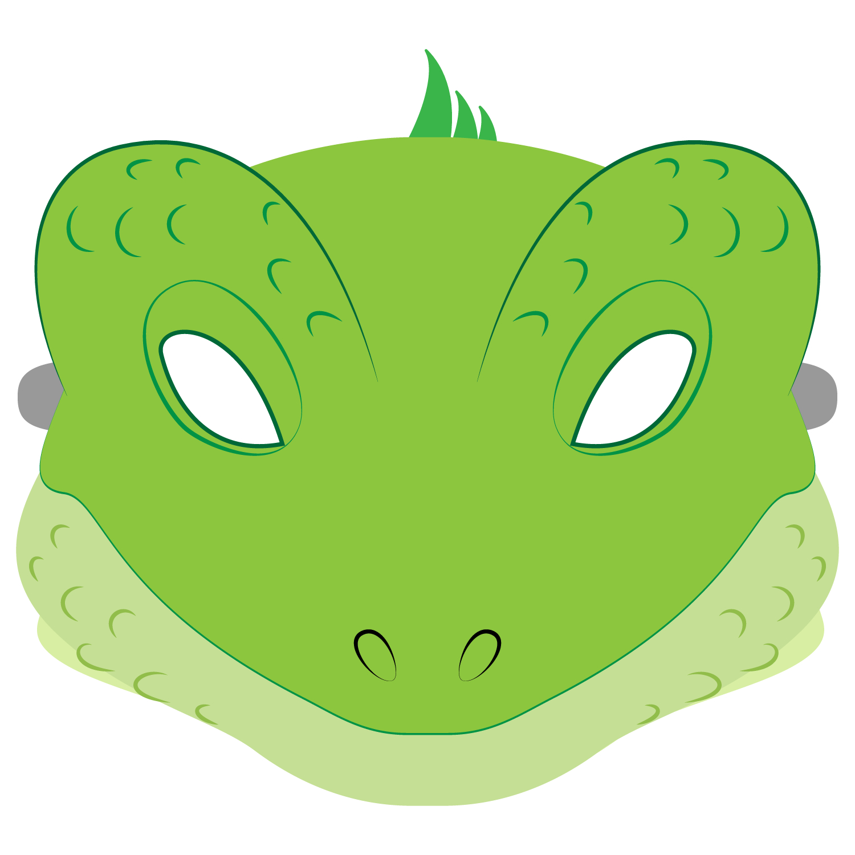 Lizard Mask Template   Free Printable Papercraft Templates - Free Printable Lizard Mask