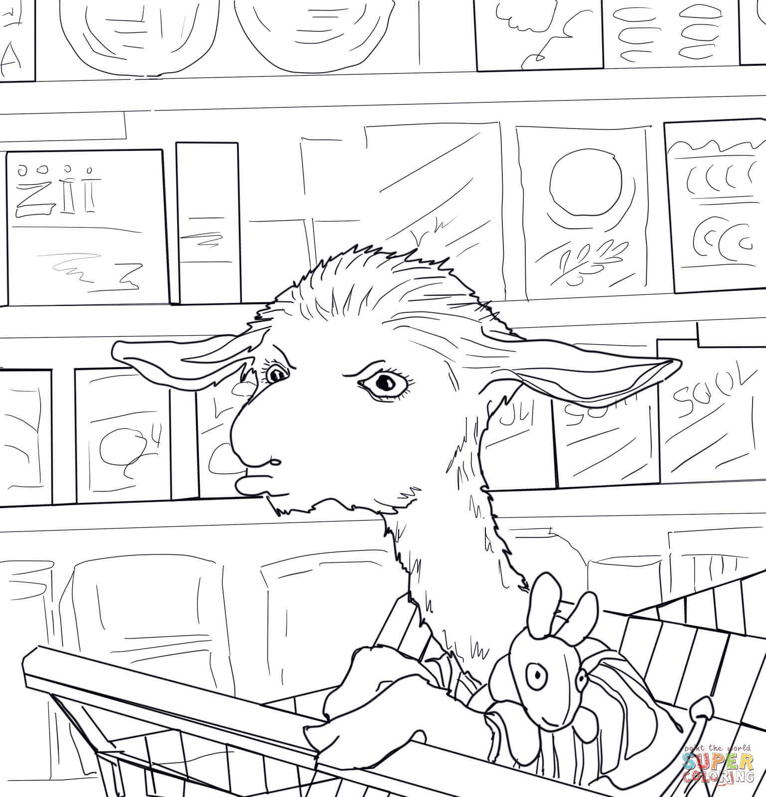 Llama Llama Red Pajama Coloring Page | Free Printable Coloring Pages - Free Printable Pajama Coloring Pages