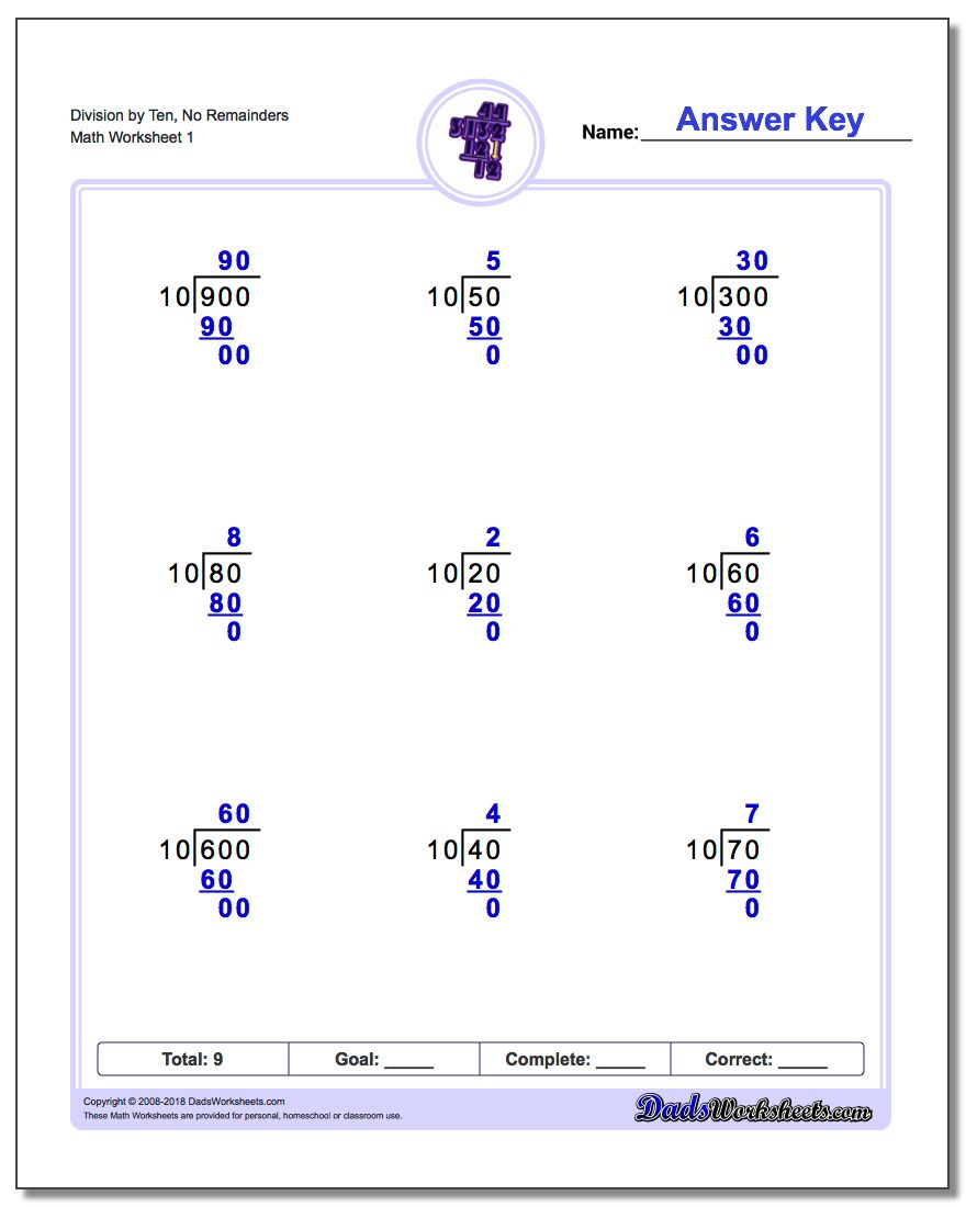 Long Division Worksheets - Free Printable Division Worksheets For 4Th Grade