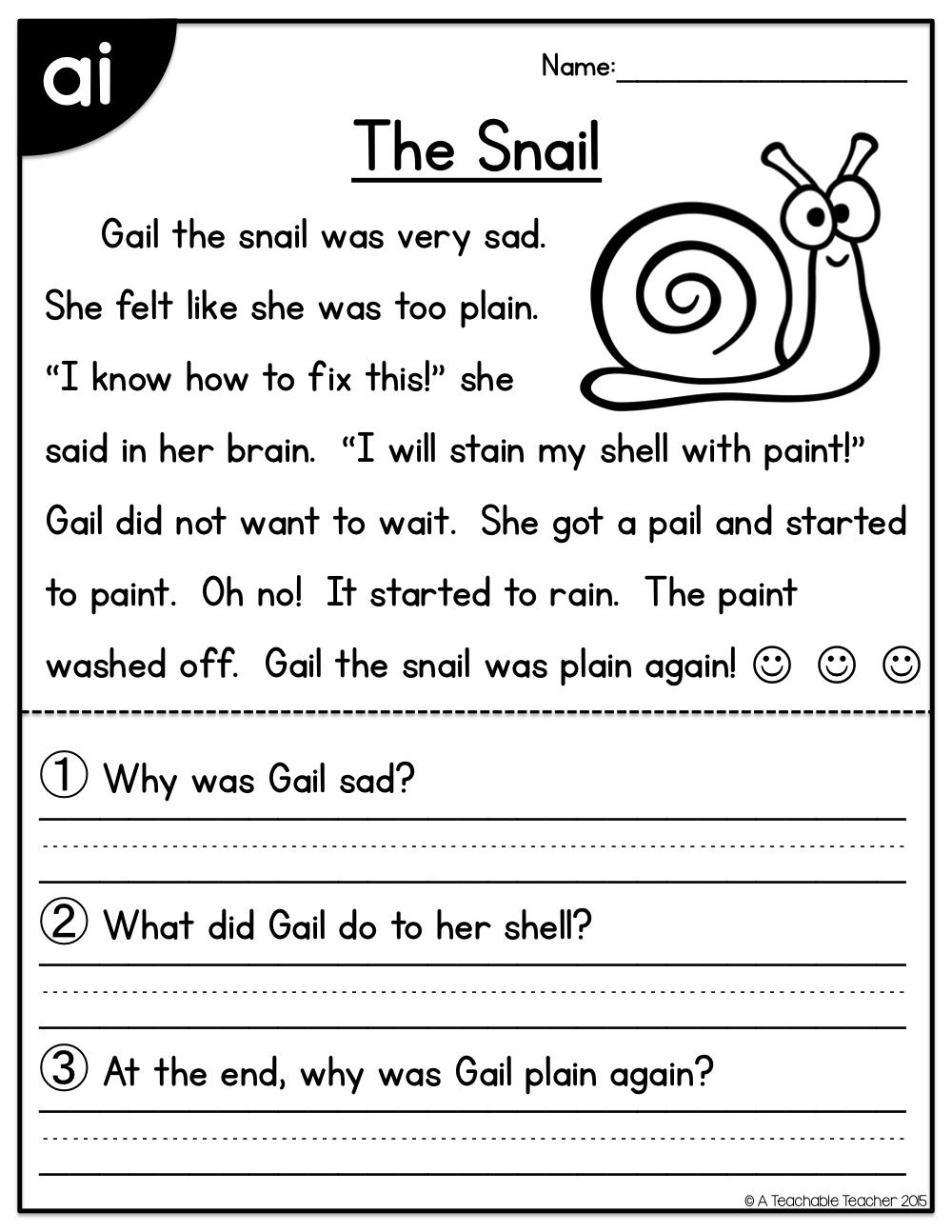 Long Vowels Reading Passages Freebie   Printable Activity Sheets - Free Phonics Readers Printable