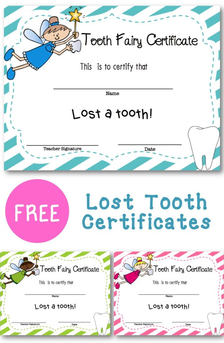 Lost Tooth Certificate | New England Teacher | Tooth Fairy - Free Printable First Lost Tooth Certificate