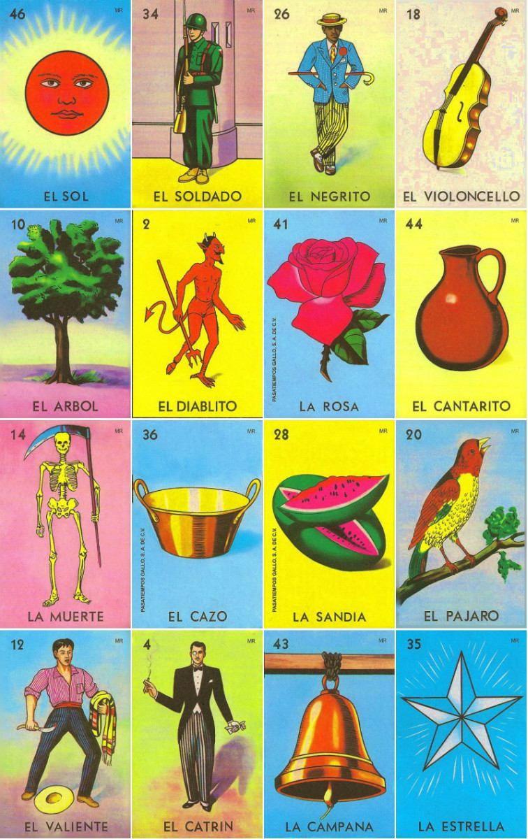 Loteria Mexicana Tradicional   Printable   Mexican Art, Mexico Art - Free Printable Loteria Game