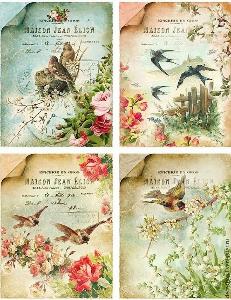 Lots Of Free Beautiful Vintage Printable Sheets. | Flowers In Free - Free Printable Decoupage Flowers