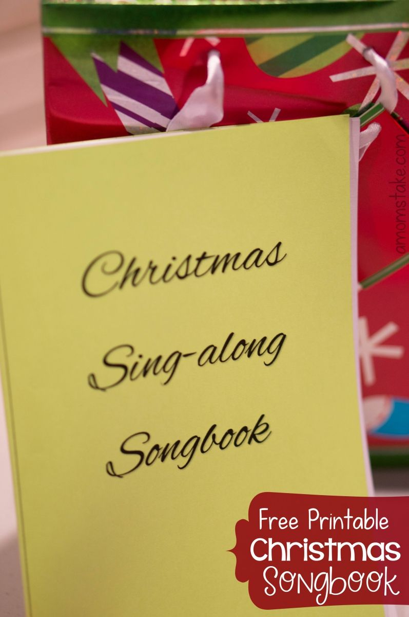 Love To Sing Carols With Your Family For The Holidays? Download This - Free Printable Christmas Carols Booklet