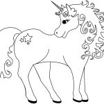 Lovely Unicorn Coloring Page | Free Printable Coloring Pages   Free Printable Unicorn Coloring Pages