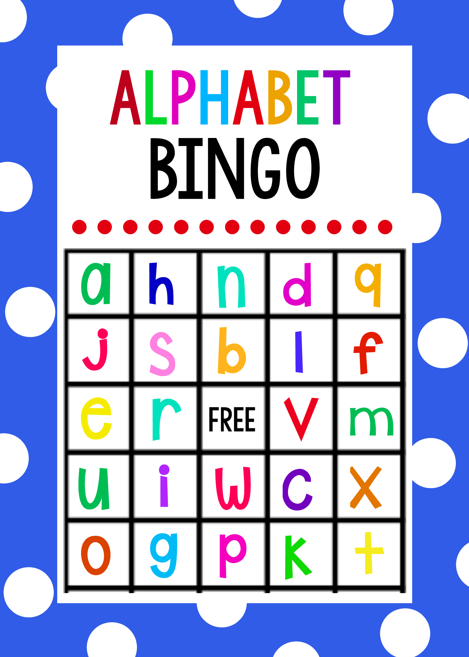Lowercase Alphabet Bingo Game - Crazy Little Projects - Free Printable Alphabet Games