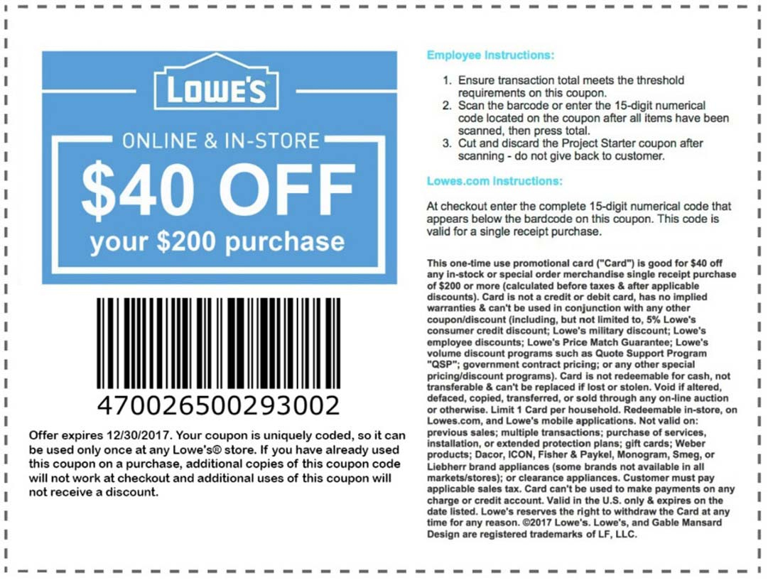 Lowes Coupons – Download & Print - Lowes Coupons 20 Free Printable