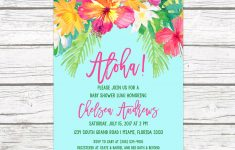 Luau Baby Shower Invitation, Tropical Baby Shower Invitation, Aloha - Free Printable Luau Baby Shower Invitations