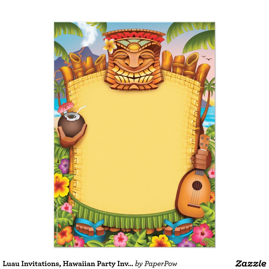 Luau Party Invitations Luau Party Invitations Along With - Hawaiian Party Invitations Free Printable