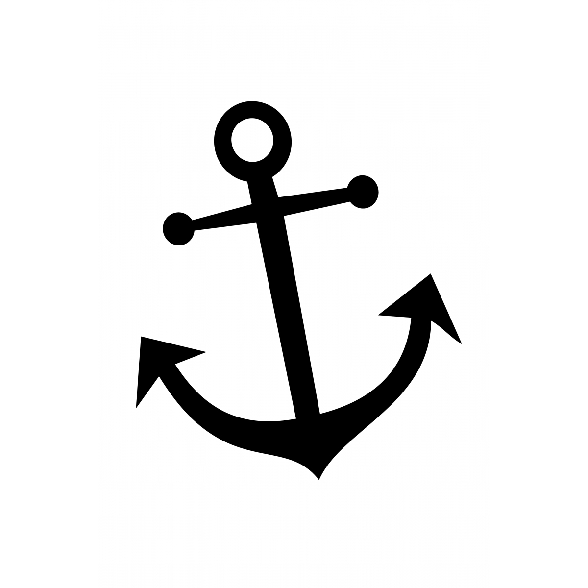 Lux Anchor - Brown | Tattoo | Anchor Stencil, Simple Anchor Tattoo - Free Printable Anchor Template