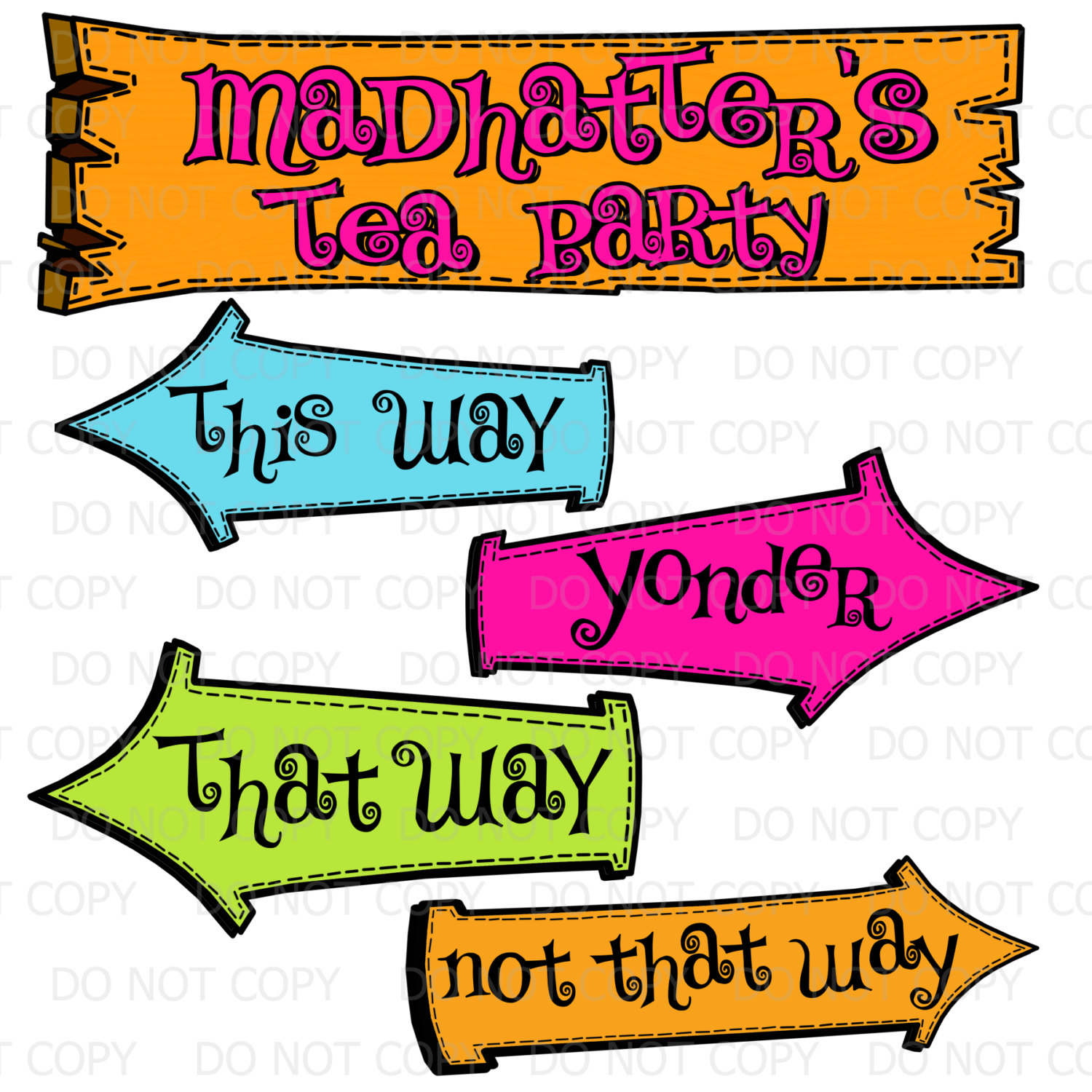 Mad Hatter Tea Party - Ecosia - Alice In Wonderland Signs Free Printable