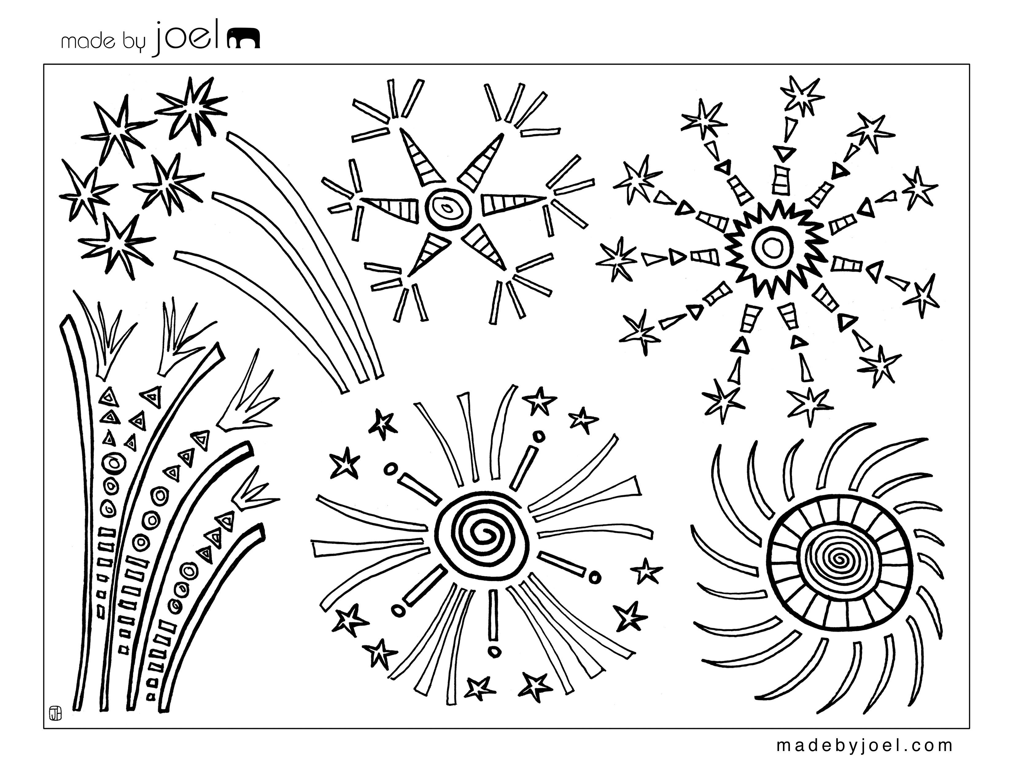 Madejoel » 4Th Of July Fireworks Coloring Sheet - Free Printable 4Th Of July Coloring Pages
