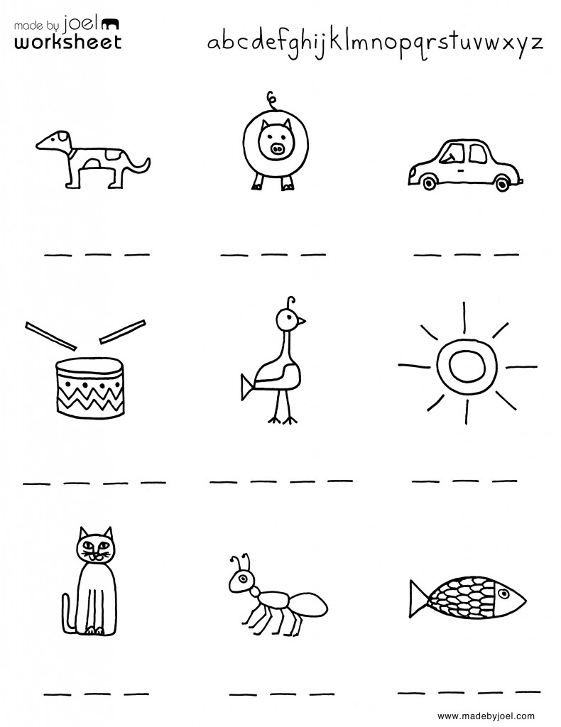Madejoel » Spelling Worksheet For Summer – Kindergarten - Free Printable Spelling Worksheets