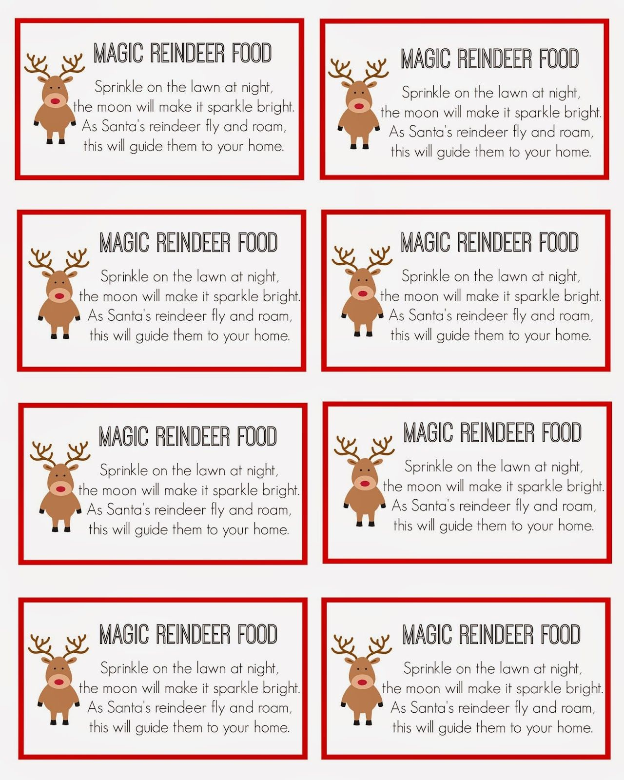 Magic Reindeer Food | Christmas | Magic Reindeer Food, Reindeer Food - Reindeer Food Poem Free Printable