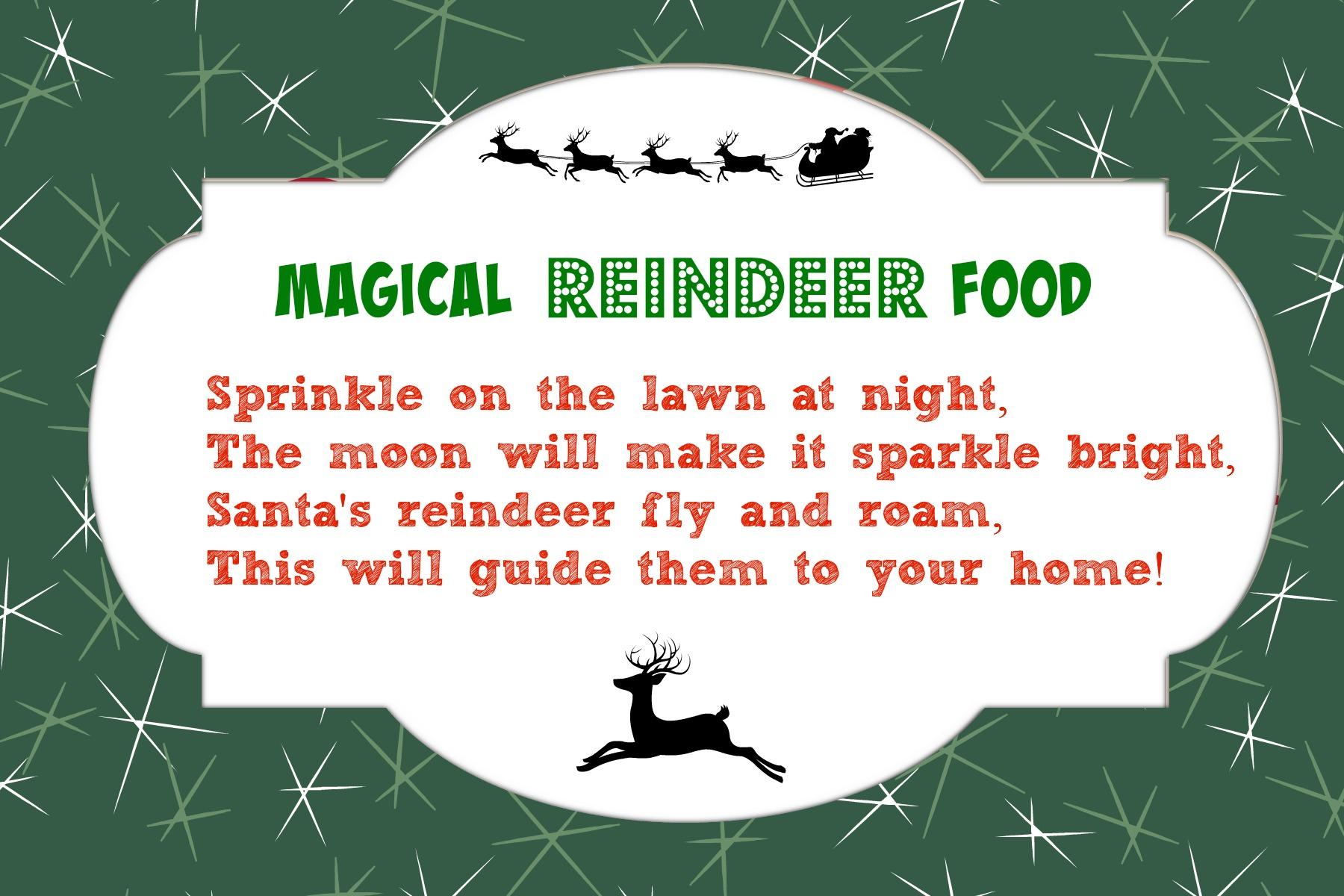 Magical Reindeer Food Recipe + Free Printable Poem Tag | Mama Cheaps - Reindeer Food Poem Free Printable