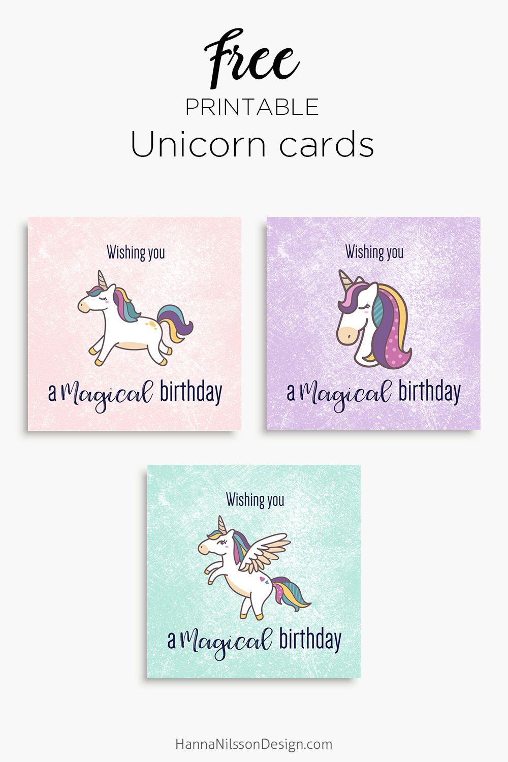 Magical Unicorn Birthday Printable Cards   Tis' Better To Give - Free Printable Greeting Card Sentiments