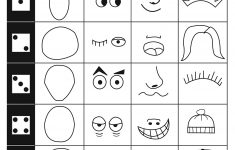 Make A Face Dice Game For Kids To Do. This Is Great To Keep Kids - Roll A Monster Free Printable