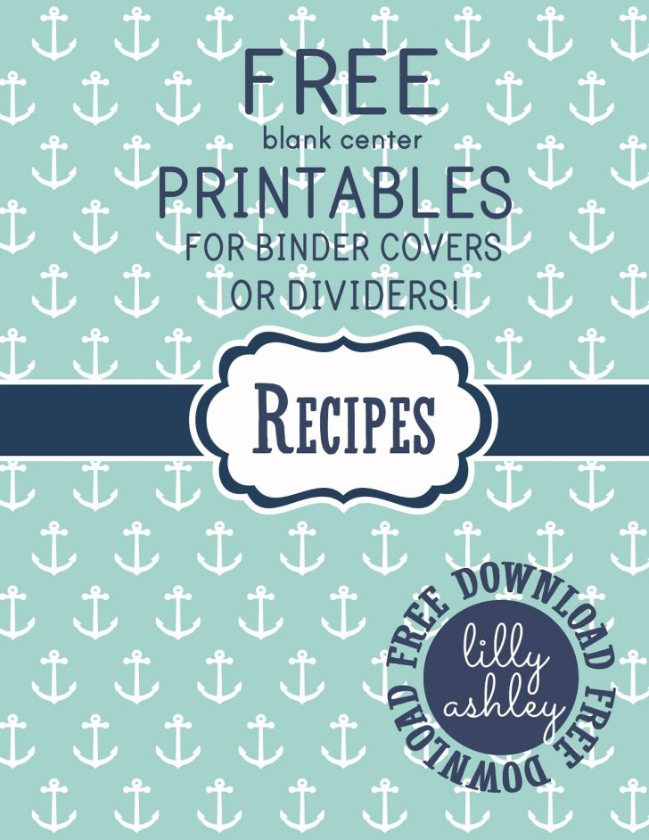 Free Printable Recipe Dividers