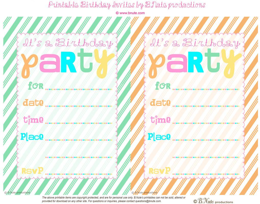 Make My Own Birthday Invitations Online Dozor Free Printable Party - Birthday Party Invitations Online Free Printable