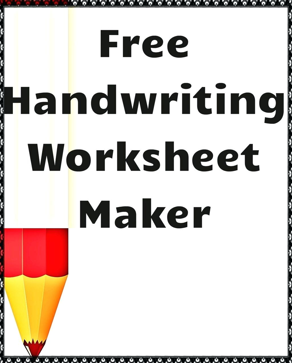Make Your Own Cursive Writing Worksheets Free Printable Tracing - Make Your Own Worksheets Free Printable