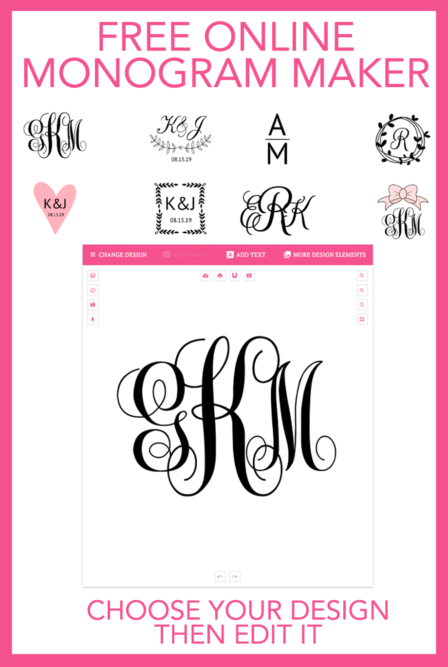 Make Your Own Monograms Online With This Free Online Monogram Maker - Monogram Maker Online Free Printable