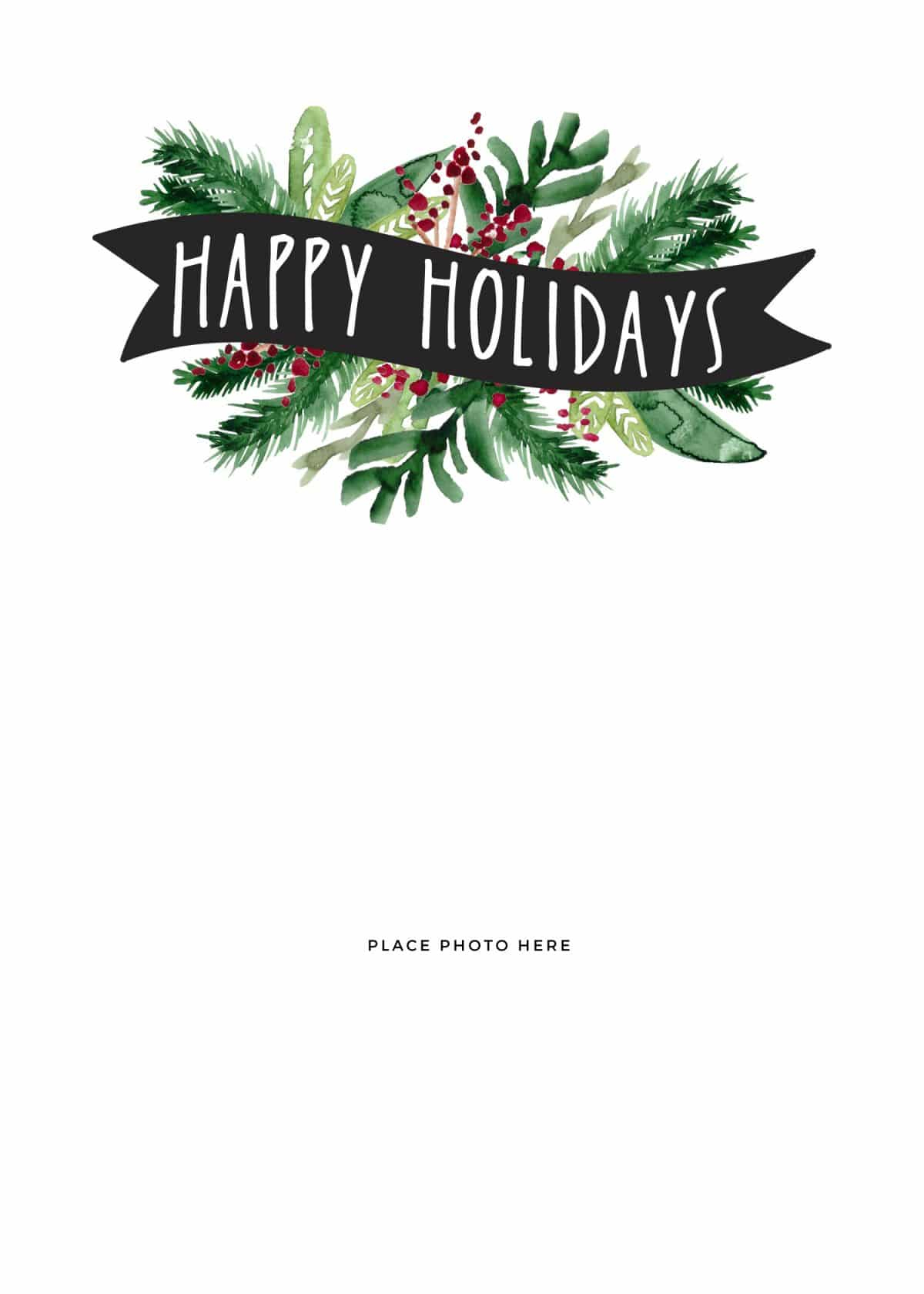Make Your Own Photo Christmas Cards (For Free!) - Somewhat Simple - Free Online Printable Christmas Cards