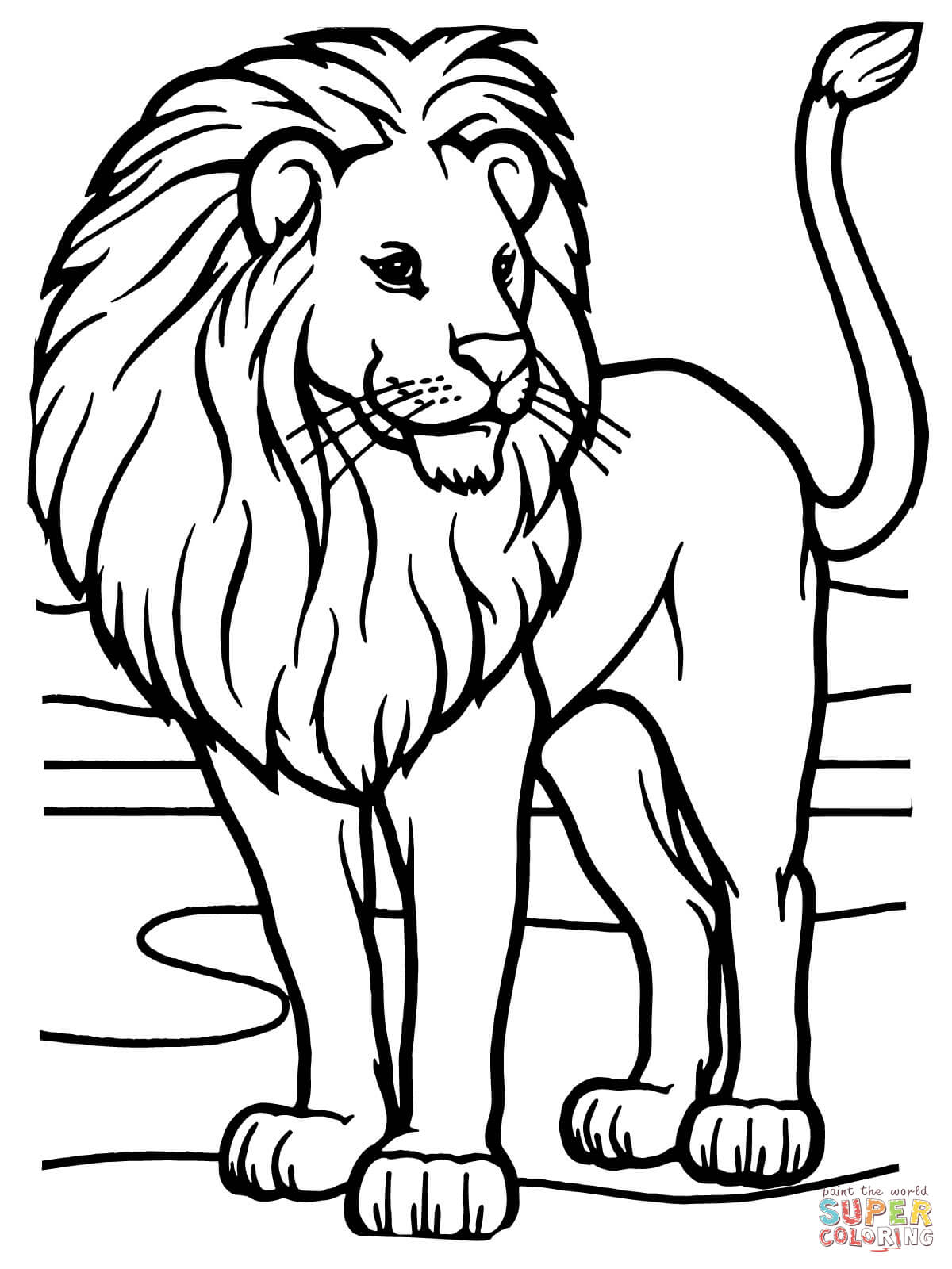 Male African Lion Coloring Page | Free Printable Coloring Pages - Free Printable Picture Of A Lion