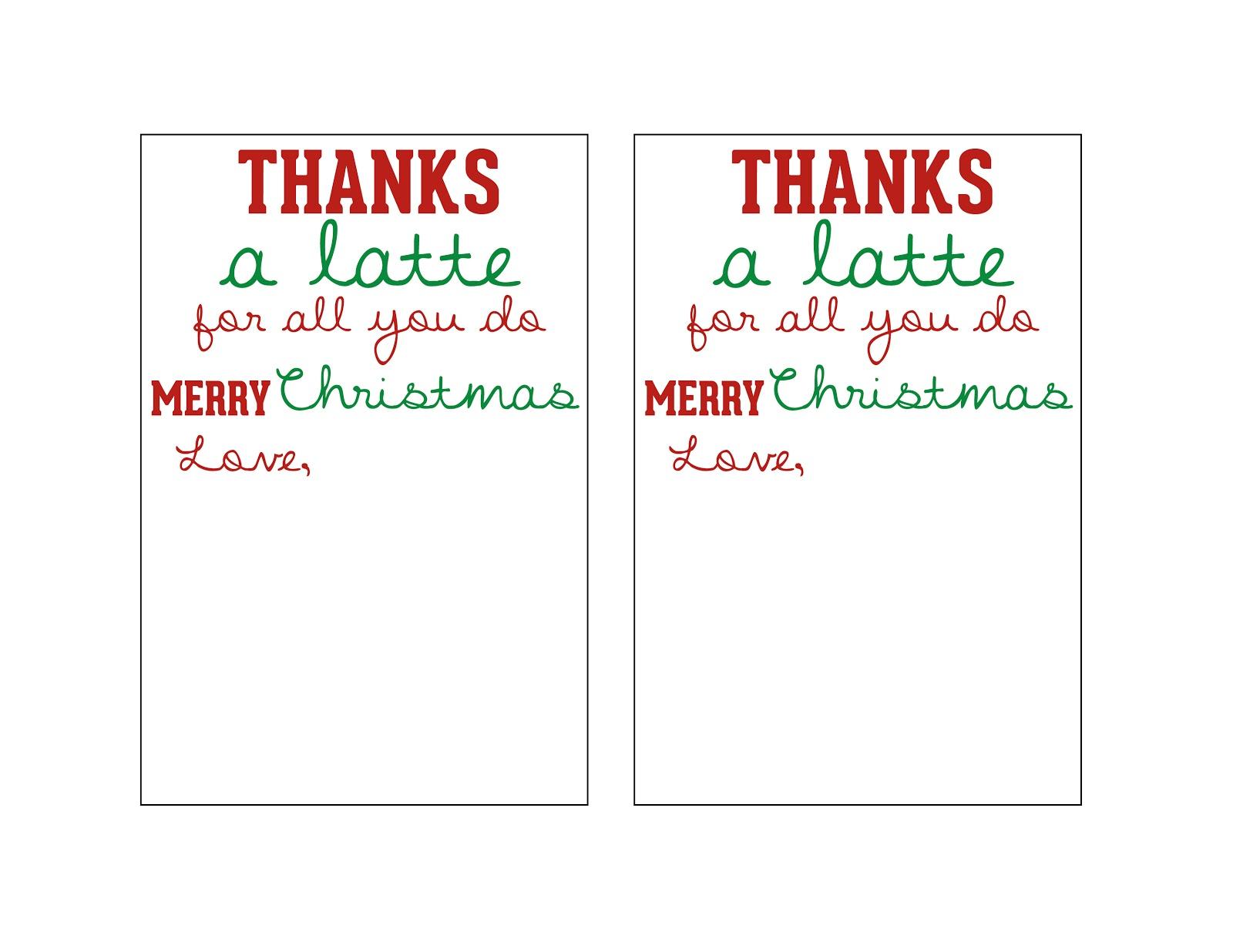 Mandie Starkey: Thanks A Latte   Diy Teacher Christmas Gift - Thanks A Latte Free Printable